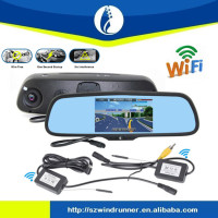 wholesales WR-DVR3570 rearview mirror car dvr driver recorder hd car dvr camera digital,gps bluetooth Android auto tachograph