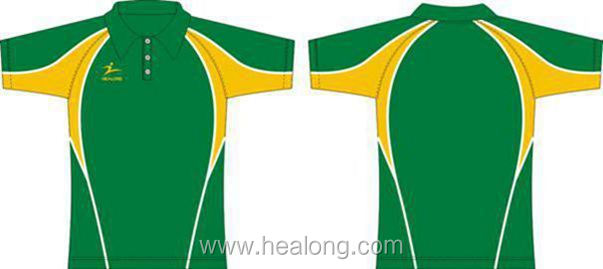 Healong 3D Sublimation Transfer Winter Thermal Machine Polo Shirts