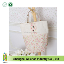 Fashion Wholesale Eco-friendly Printed Cotton / Jute /Canvas Tote Bags