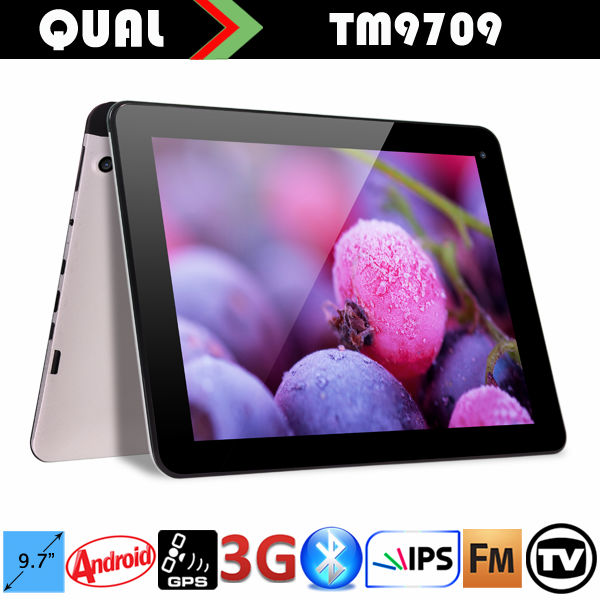 9.7 inch MTK8382 Quad Core Bluetooth 4.0 digitizer mobile tablet GPS Display 3g calling with Quad Core Bluetooth