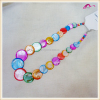 Fashion Party Colorful Handmade Bead Shell Statement Necklace