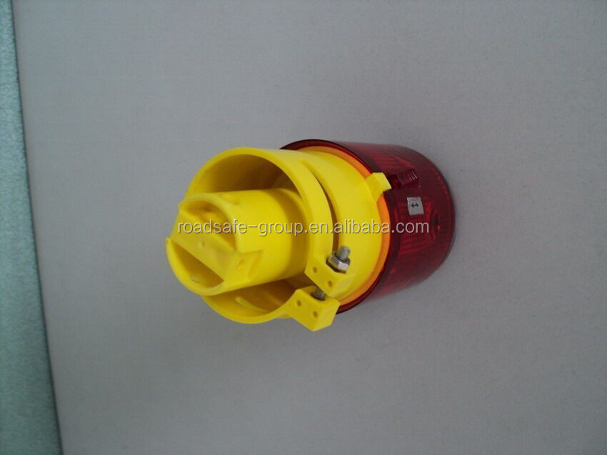 Solar Road Construction led warning light/flashing road orange