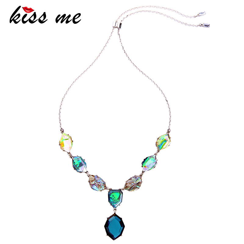 Adjustable Colorful Geometric Pendant Necklace 2017 New Fashion Jewelry