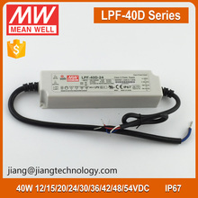 Meanwell LPF-40D-48 40W 48V 0.84A Dimmable LED Driver IP67