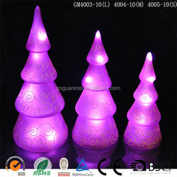Made in china glitter light hand painted craft tree with purple led light