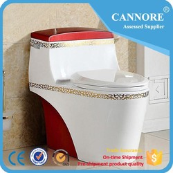 One Piece Siphon Jet Flushing Chinese Toilet