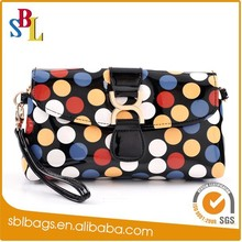 Double zipper toiletry bags, dot design toiletry bags, waterproof toiletry bags