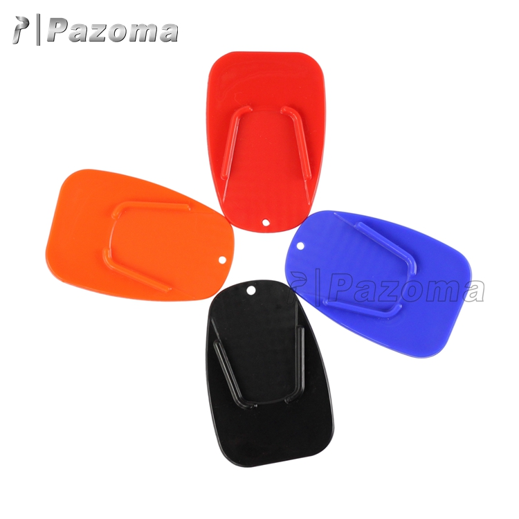 Custom Cheap 88*58mm Motorcycle Kickstand Pad Plastic Kickstand Pad Foot Pads