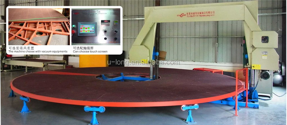 Hot Selling CE Certificate DongGuan Mattress Sponge Foam Block Cutting Machine with round table