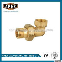 APEX Brass Pipe Fittings Angle Male And Female Union With Rubber Sealed