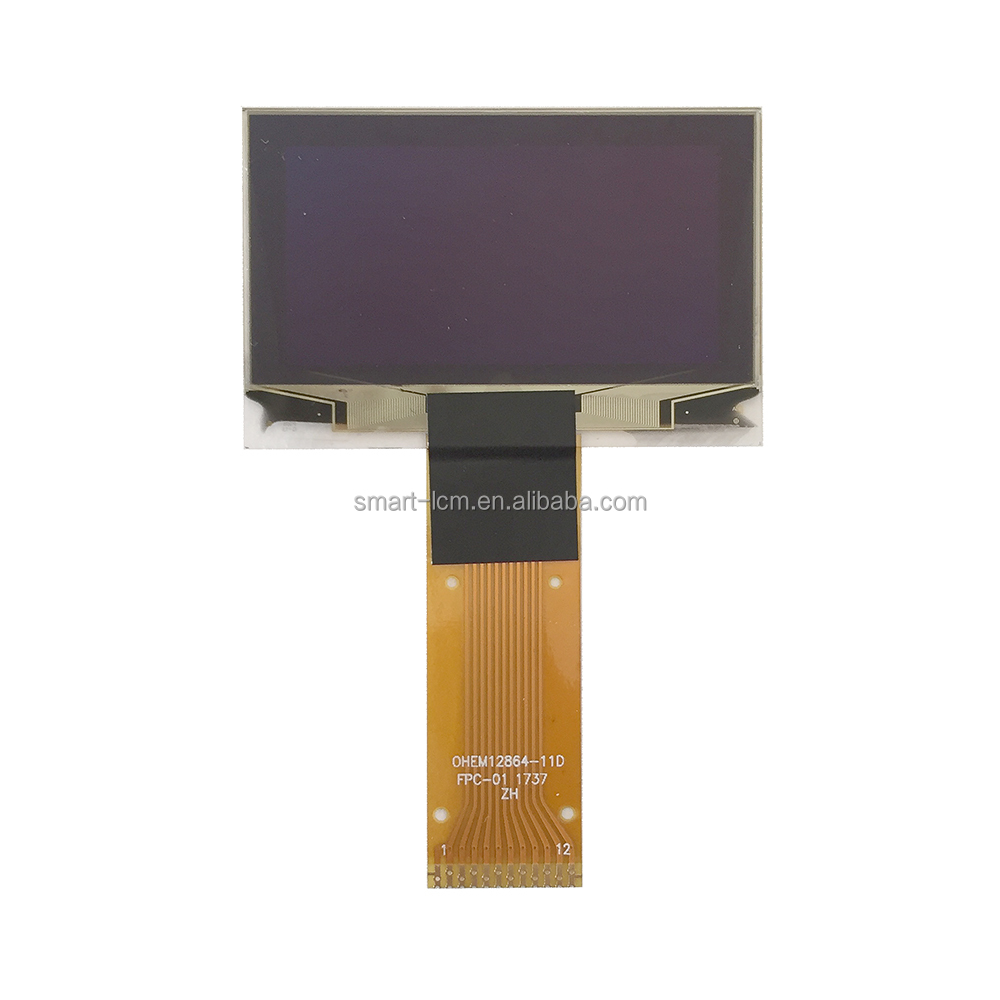 China manufactorer 1.54 inch transparent oled panel display screen LCD module