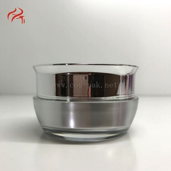 Luxury Unique Round Shaped Acrylic Cosmetic Jar