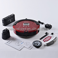 Red robotic vacuum cleaner with Robot Vacuum Cleaner Mop 2013