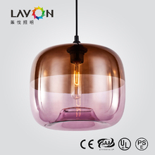 large colored glass chandeliers with E27 light source