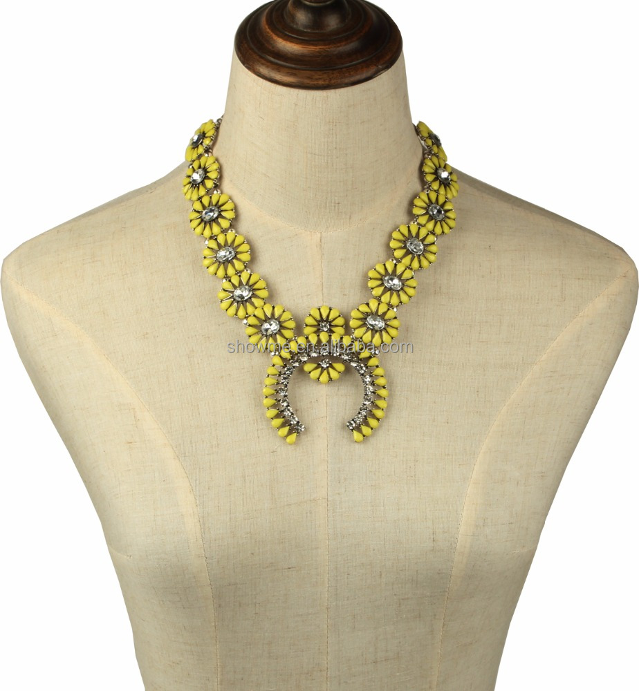 Hot Search girls accesories Yellow Squash Blossom Necklace Western squash blossom jewelry
