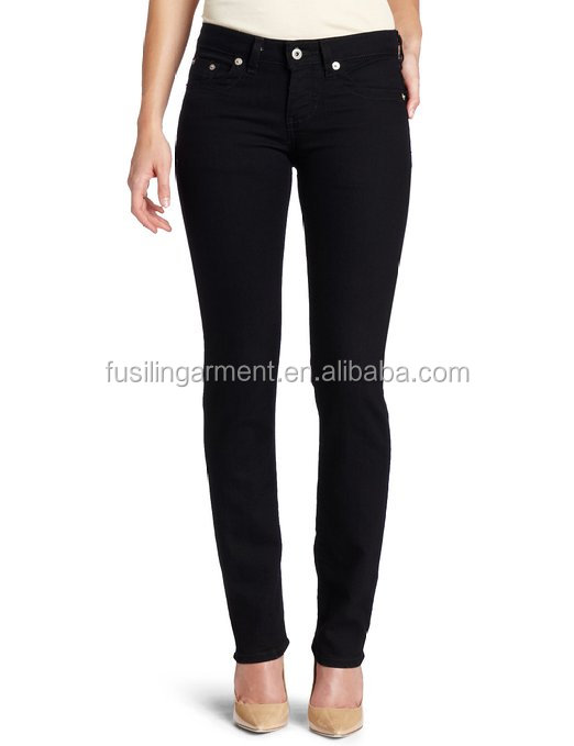 Jeans manufacturers china Women's Slim Straight Leg Jean