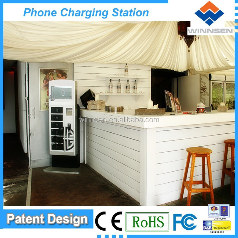 Vending machine! Free standing money making locker for samsung mobile phone charging connector APC-06B