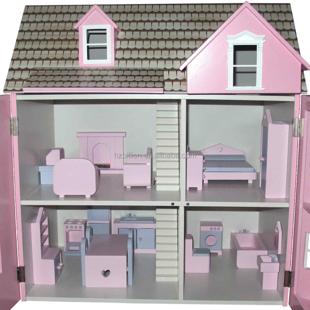 1/12 Scale Wooden Dolls House Kids toys