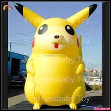 Factory Directly Sell! advertising inflatable pikachu / inflatable sasquatch cartoon