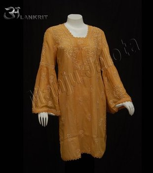 long cotton tunic, Kurti