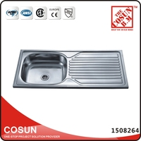 Above Counter ss 201 Drain Pad Kitchen Sink Malaysia
