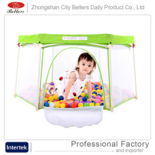 Bellers China Factory Manufacture Hot Sale American Folding Wooden Playpen for Baby