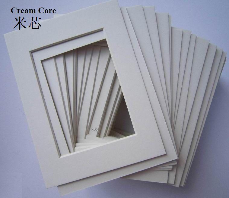 Black core cardboard photo frame matboard frames 4\