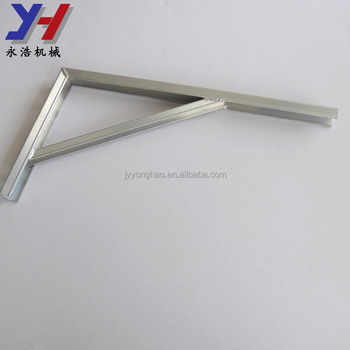 OEM ODM factory manufacture strong welding stamping part t-slot aluminum bracket as your drawing