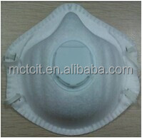 Chemical disposable FFP1/FFP2 dust maks with valve