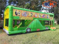 large inflatable Safari Bus / inflatable jumping bouncer , Safari Adventure Tours Bus / inflatable slide