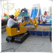 Indoor&outdoor kiddie games Amusement Park Rides Kids excavator video game