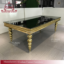 12 seater gold legs wedding stainless steel dining table designs
