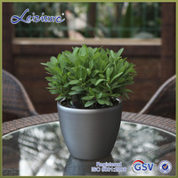 Hot sell silver Home indoor plant supports plastic flower pots (HG-3102)