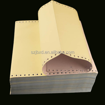 "Hot Sale 9.5""x11"" NCR Carbonless Blank Continuous Computer Paper"