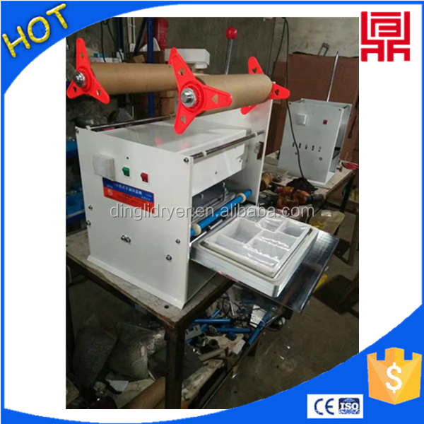 juice cup sealing machine/food cup sealer/plastic tray sealer machine
