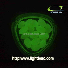 China whole sale best quality fluorescent glow pebble stone