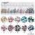 Mixed Sizes 1440PCS/Pack Clear AB Non Hotfix Flatback Rhinestones For Nails 3D Nail Art Decoration