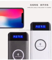 Amazon Hot Selling Wireless Power Bank 93% Charging Efficiency 15mm TH Fast Backup Qi Wireless Charger For iphoneX Android Phone