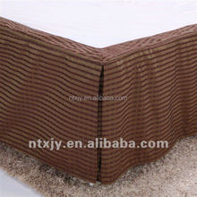 King size Poly Pleated Hotel bed skirt