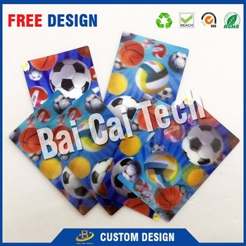 Customized elegant appearance hot selling lenticular 3d card sticker