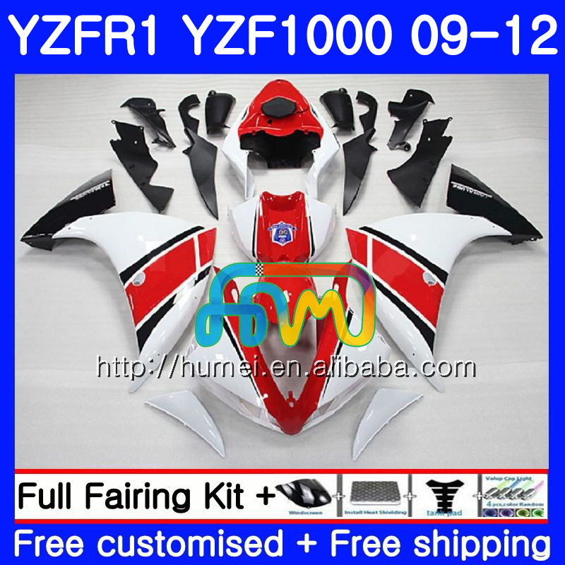 Body For YAMAHA YZF-<strong>R1</strong> white red YZF1000 R 1 YZF-1000 104HM21 YZF 1000 YZF <strong>R1</strong> <strong>09</strong> 10 11 12 YZFR1 2009 2010 2011 2012 Fairing