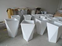 handmade outdoor garden planter fiberglass flower pots