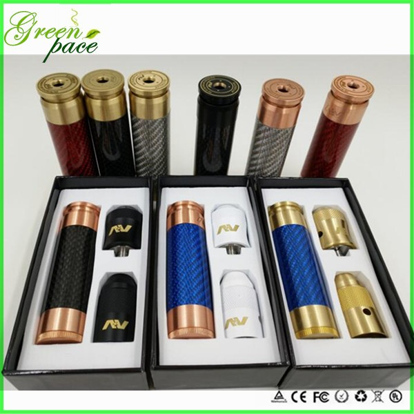 Factory for sale all kinds of the av able mech mod 1:1 clone carbon fiber av able stack mod