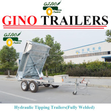 Australian standard Heavy duty galvanizing Hydraulic Electric Tipper Trailers