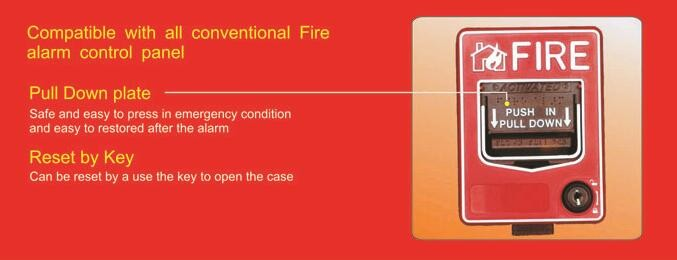 Haisheng Hottest Resettable Fire Alarm Manual Pull