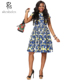 ZH089 Africa new fashion batik fabric dress for ladies wear
