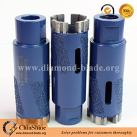 Premium quality dry use granite diamond core drill bits with 1-3/8'' and 1-1/2'' thread