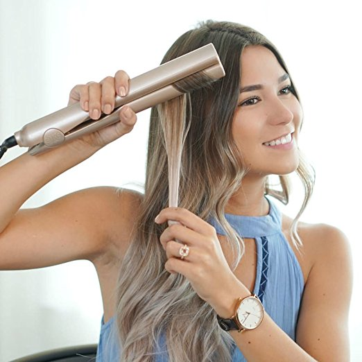 wholesale titanium fast electric ceramic hair straightener steam flat irons custom flat irons with private label