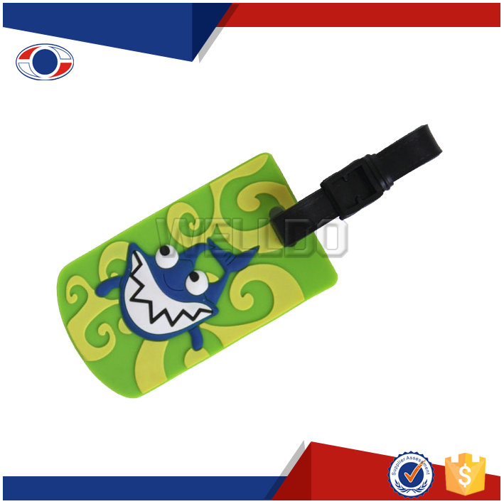 custom pvc luggage tag for travel suitcase