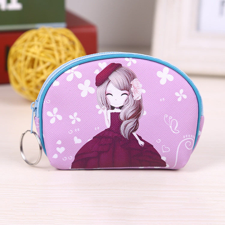 Multicolor pretty fashion coin purse wallet ladies bag